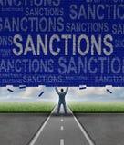 Lfting sanktioner Fotografering för Bildbyråer
