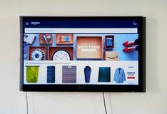 LG电视的亚马逊网上商店 免版税库存图片