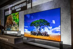 Free LG 8k Signature Smart OLED Premium TV On Display, At LG Exhibition Showroom, Stand At Global Innovations Show IFA 2019 Stock Photography - 167914842