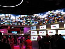 LG booth at the 2010 CES convention Royalty Free Stock Image