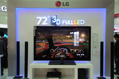 Lg booth,lg 72 3d full led Stock Image