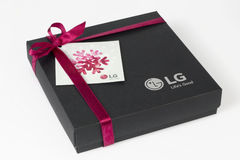 LG brand gift for Europe Stock Photography