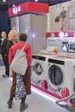 LG company booth at CEE 2015, the largest electronics trade show in Ukraine Royalty Free Stock Photos