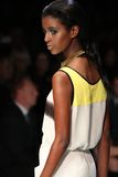 LG Fashion Week. TORONTO - OCTOBER 16: A model walks down the runway showcasing the spring/summer 2012 collection from Arthur Mendonça during Toronto's LG stock images