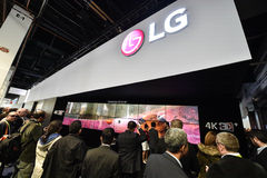 LG Group at CES 2016 Royalty Free Stock Images