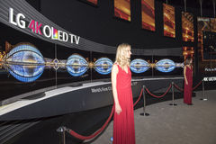 LG 4K Oled TV. On IFA Berlin. IFA Berlin is the worlds leading trade show for consumer electronics and home appliances Royalty Free Stock Images