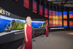 LG 4K Oled TV. On IFA Berlin. IFA Berlin is the worlds leading trade show for consumer electronics and home appliances Stock Images