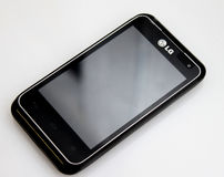 LG Motion cell phone. On display Royalty Free Stock Photo