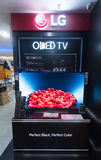 An LG OLED TV store in Low Yat Plaza Royalty Free Stock Image