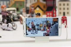 LG przewód, MOBILNY ŚWIATOWY kongres 2014 fotografia stock