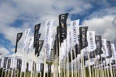 LG-vlaggen op IFA Berlin Stock Foto's