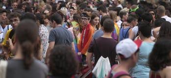 LGBT在马略卡全视图的自豪感庆祝 免版税库存照片