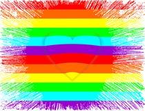LGBT心脏 免版税库存图片