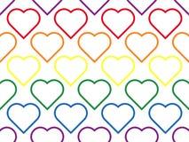 LGBT线心脏无缝的样式女同性恋,快乐,两性体和变性 库存例证