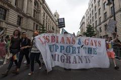 LGBT自豪感伦敦2016年 库存图片