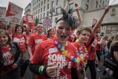 LGBT自豪感伦敦2016年 免版税图库摄影