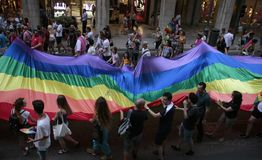 LGBT自豪感庆祝在马略卡 免版税库存照片