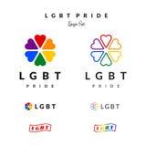 LGBT自豪感旗子彩虹商标 免版税库存照片