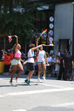 LGBT骄傲游行参加者在纽约 免版税库存照片