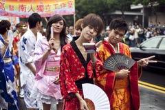 lgbt 2010 ståtar stolthet taiwan Fotografering för Bildbyråer