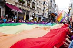 伊斯坦布尔LGBT自豪感2013年 库存照片