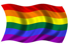 LGBT. Flying in the wind Royalty Free Stock Images