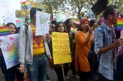 LGBT-Aktivisten und -anhänger Stockfotografie