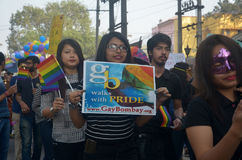 LGBT-Aktivisten und -anhänger Stockfotos
