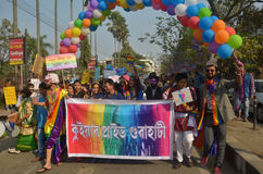 LGBT-aktivister och supportrar Royaltyfri Fotografi