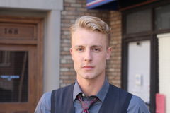 LGBT berichtigt Bewegungsmitglied außerhalb des Büros Stockfoto