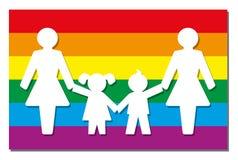 LGBT che Parenting Pride Flag Icon Moms Fotografia Stock Libera da Diritti