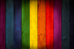 LGBT Colorful color wood background