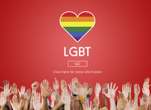 LGBT Community Sexual Rights Equality Concept Royalty Free Stock Photos
