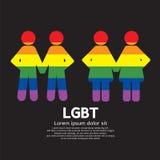 LGBT Couple Symbol. LGBT Couple Symbol Vector Illustration Stock Images