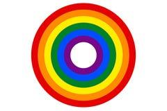 LGBT-de regenboogvlag is de doelvector Royalty-vrije Stock Afbeelding