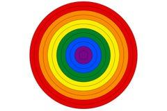 LGBT-de regenboogvlag is de doelvector Royalty-vrije Stock Fotografie