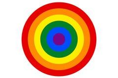 LGBT-de regenboogvlag is de doelvector Stock Fotografie