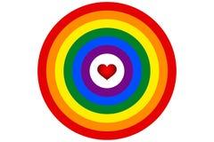LGBT-de regenboogvlag is de doelvector Stock Afbeeldingen