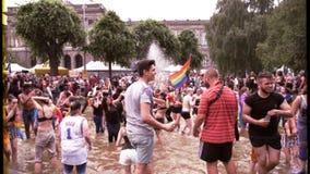 LGBT-de trots 16mm filmeffect langzame motie krast beschadigde film stock footage