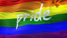 LGBT dumy tęczy falowania flaga tło Obraz Stock