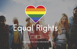 LGBT Equal Rights Rainbow Symbol Concept Stock Photos
