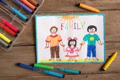 LGBT-familjteckning royaltyfri bild