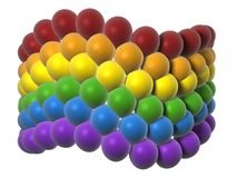 LGBT flag in balloons Stock Photography