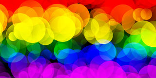LGBT Flag With Gradient Circle Effect. 2D rendered image of LGBT flag with gradient circles effect Stock Photography