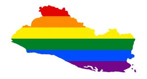 LGBT flag map. Vector rainbow map in colors of LGBT lesbian, gay, bisexual, and transgender pride flag vector illustration