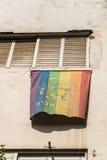 LGBT flag in Tel Aviv Royalty Free Stock Images