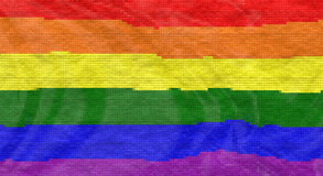 LGBT flag with tiles effect Royalty Free Stock Image