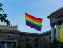 LGBT flag. In Warsaw - Equality Parade Royalty Free Stock Photography