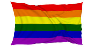 LGBT Flag In The Wind Stock Photos