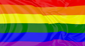 LGBT Flag In The Wind Royalty Free Stock Photo